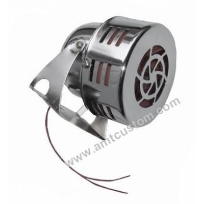 Sirène turbine moto trike 12V - compacte chrome moto custom harley