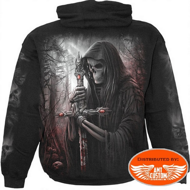 "Skull ""Soul Searcher"" Hooded jumper Biker"