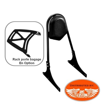 Softail Sissy Bar Noir Porte Bagage Fatboy, Cross Bones, Night Train,Custom, Springer, ...