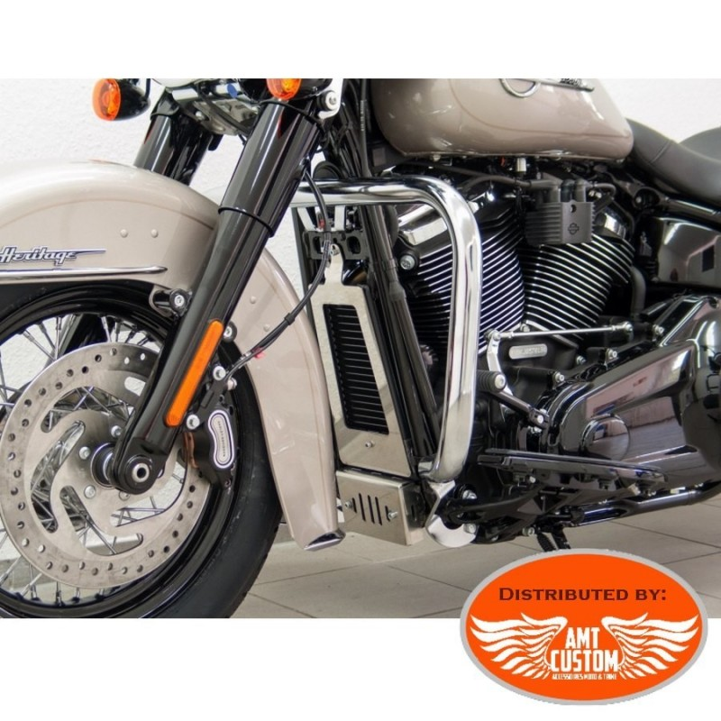 Softail (107/114) Pare-cylindre Chrome pour Harley - Pare jambes - Pare Carter 38 mm