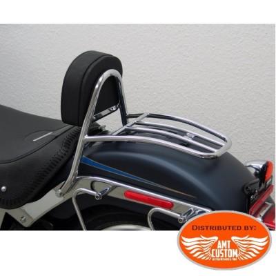 Softail Fat Boy FLSTF 2007-2017 Chrome Driver Sissy Bar & Rack for Harley