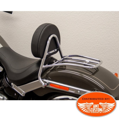 Softail Fat Boy & breakout Chrome Driver Sissy Bar & Rack Harley 2018-UP