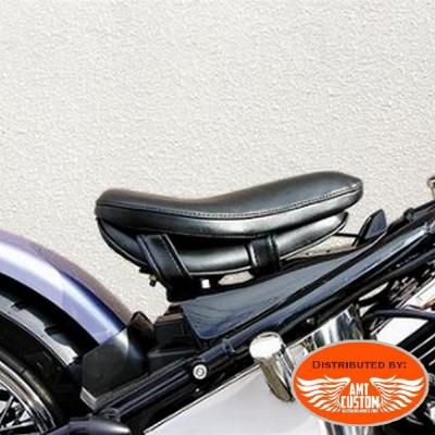 Coussin de selle confort noir pour pilote moto
