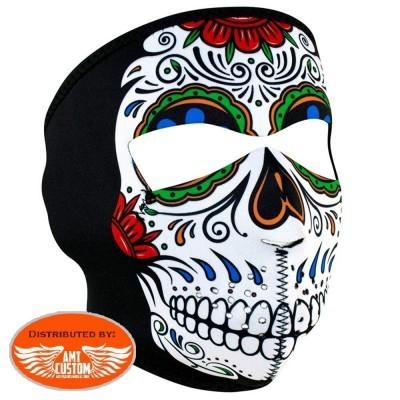 Neoprene mask Lady Rider Sugar Skull.