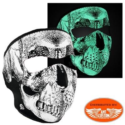 Masque néoprène Skull rétro-réfléchissant.