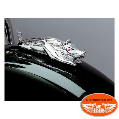 Emblem ornament Lighted Pig Fender Chromed