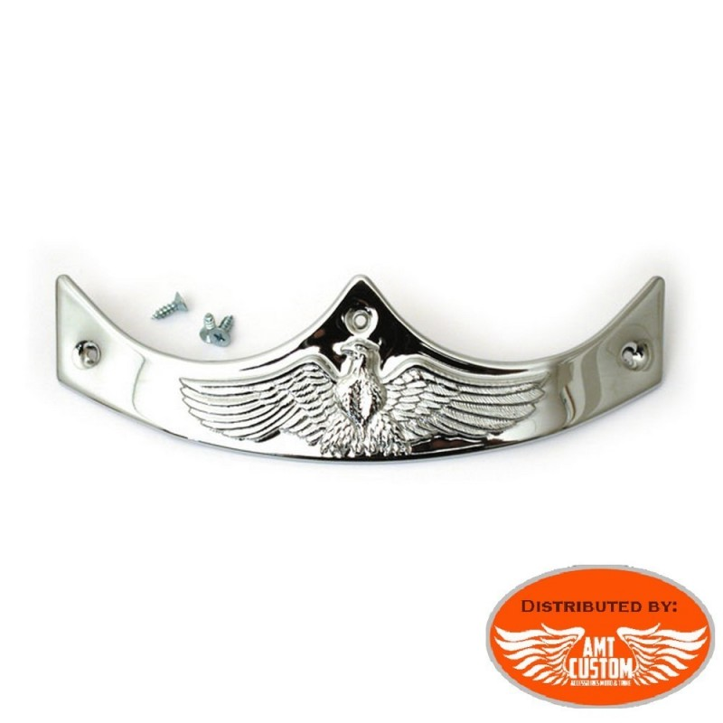 Chrome Ornament fender tip for Harley Sportster Dyna Fatboy...