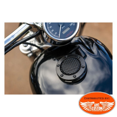 Black or chrome Kuryakyn fuel cap for Harley Davidson