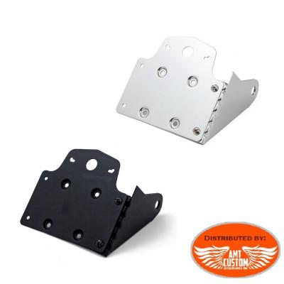 Black or Chrome Universal side mount license plate holder