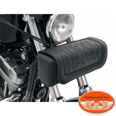 Sacoche outils de fourche noire flaming moto