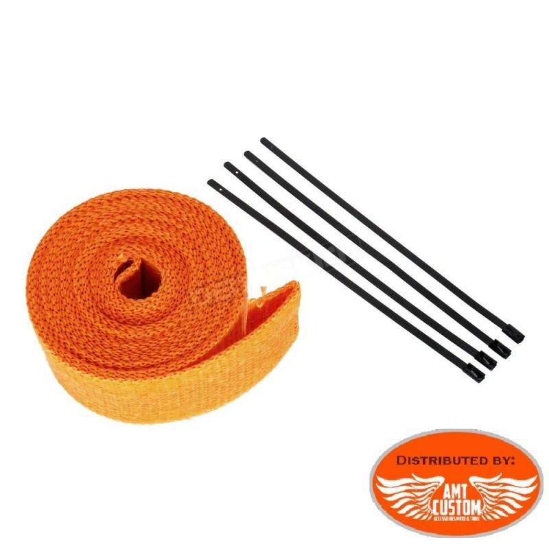 7,5m Kit bande thermique échappement Orange