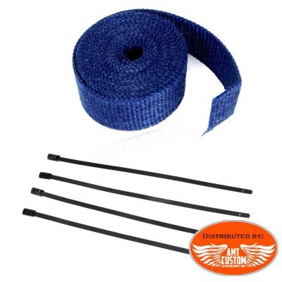 7,5m Kit bande thermique échappement Bleu