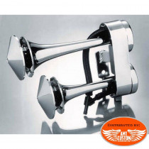Klaxons Trompette Chrome pour Harley Davidson