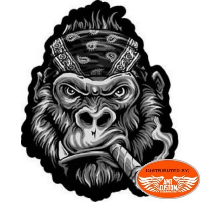 Gorilla lethal patch biker jacket vest