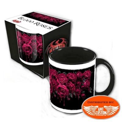 "Ceramic mug ""Blood Rose"""