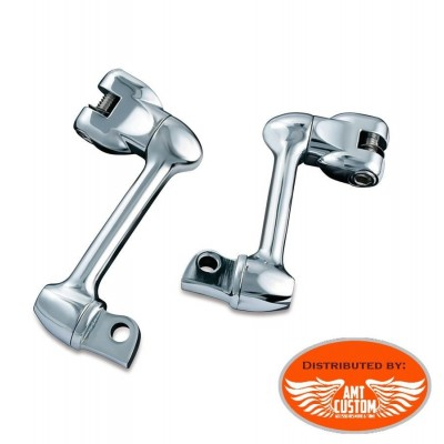 """Harley Extensions Reposes pieds passager rotatives 10cm (4"""")  5cm (2"""") pour Harley Davidson"""