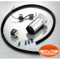 Kit electro-pneumatique Klaxons Trompette Chrome Universel