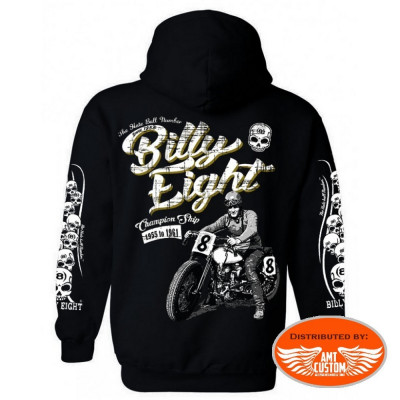 Hooded jacket Biker Billy Eight Black Raven
