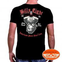 T-Shirt Billy Eight Skull Casque Drapeau USA