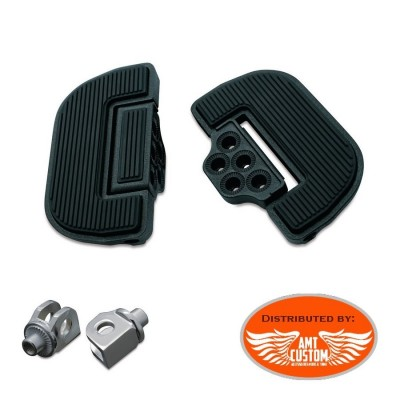 Suzuki Driver Black Floorboard Kit (front) with adapters