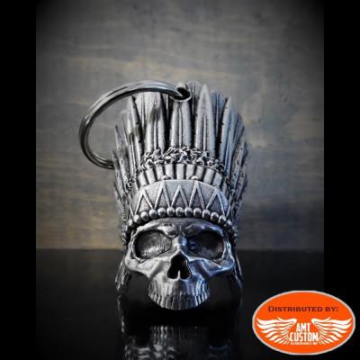 Indian skull head bell