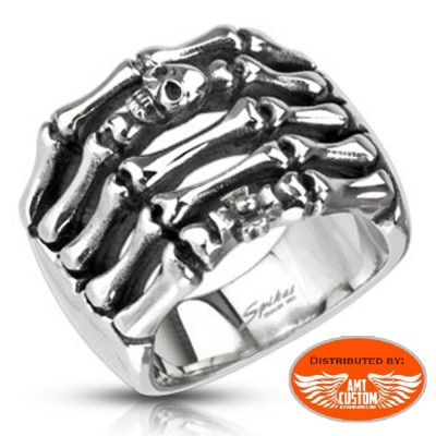 University Skull Ring motorcycles custom
