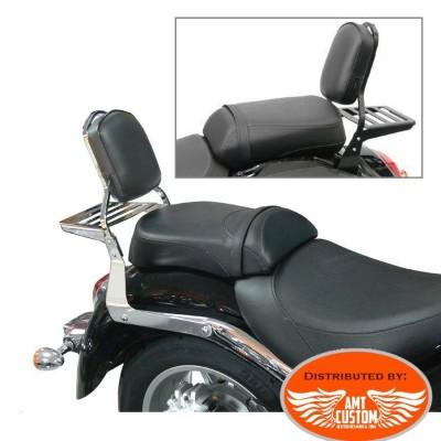 Suzuki Sissy Bar Intruder C1800R C109R VLR1800 Chrome ou noir avec rack porte bagage