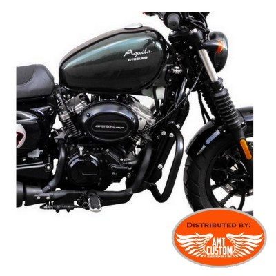 Hyosung Black fat Engine guard fit Aquila GV125S Bobber