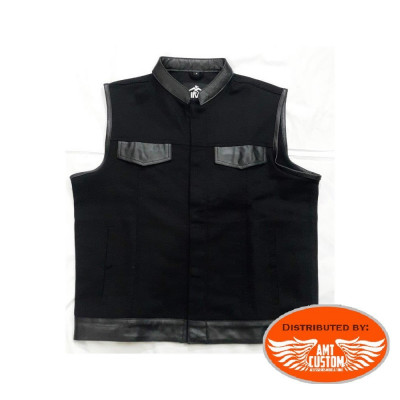 Black Jean Vest biker motorcycle