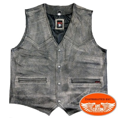 Black leather Vest biker Vintage motorcycles