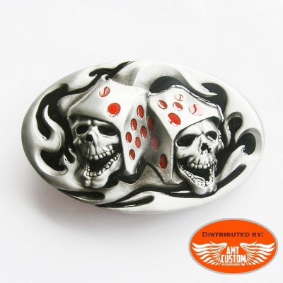 Boucle bikers skull  dés casino