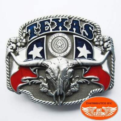 Boucle de ceinture biker USA western texas