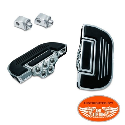 Softail driver Floorboard Kit splined adapters before and after 2018