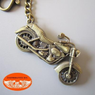 Porte clés vintage moto 3D
