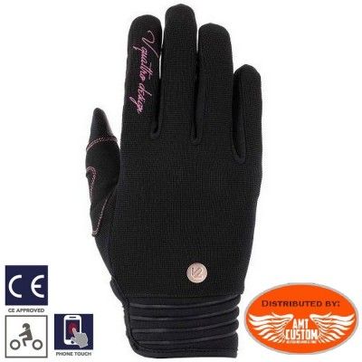 Gants Lady Rider District 18 textile Noirs homologués CE