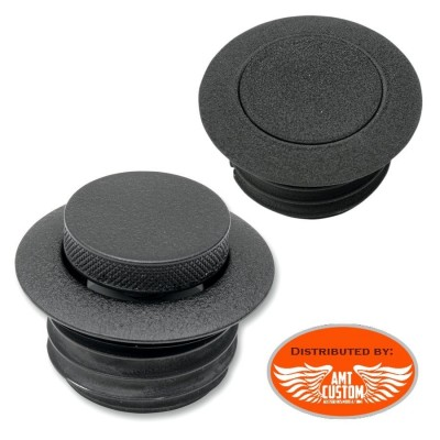POP-UP Gas Caps Black quarter-turn for Harley Davidson