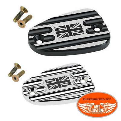 Triumph Union Jack brake master cylinder covers Chrome or Black Bonneville America Thruxton Speedmaster Rocket III