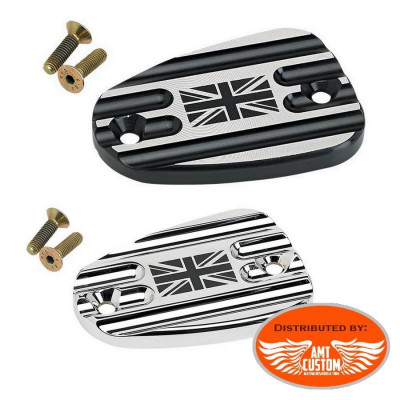 Triumph Union Jack brake master cylinder covers Chrome or Black Bonneville America Thruxton Speedmaster Rocket III