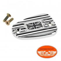 Triumph Chrome Union Jack brake master cylinder covers Bonneville America Thruxton Speedmaster Rocket III