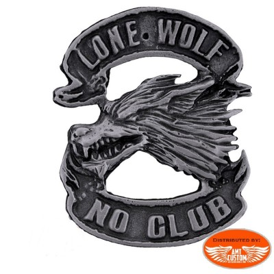 Pin's biker loup solitaire