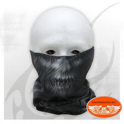 Foulard masque noir biker multifonctions bouche torturée