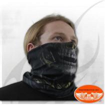 Foulard masque noir biker multifonction biker reaper skull
