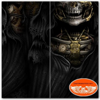 Steam punk reaper - black multifunctional face wraps motorcycle