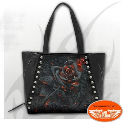 Lady rider black bag burnt rose