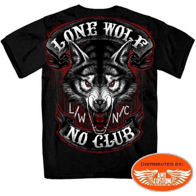 T-shirt biker loup solitaire