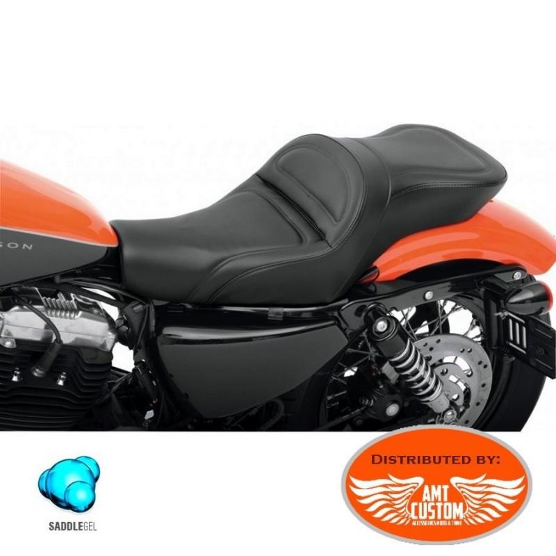 Sportster Selle Gel confort duo XL883 XL1200 Réservoir 12,5 litres (3,5 Gallon) pour Harley