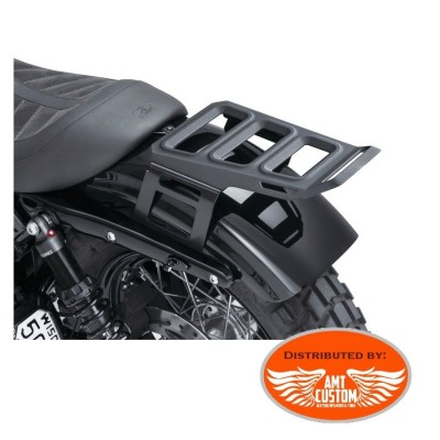 Sportster Black Luggage solo Rack for Harley XL883 and XL1200 with solo seat