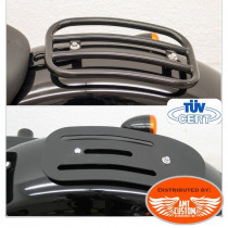 Black Luggage rack Forty Eight Harley XL1200X with solo seat