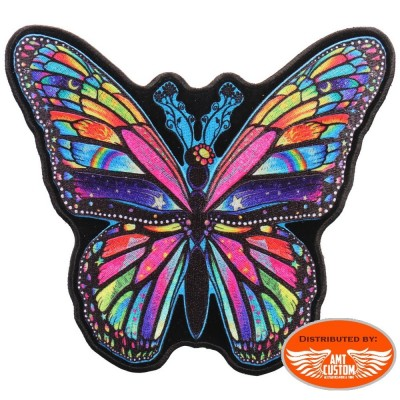 Lady Rider Butterfly Patch Biker