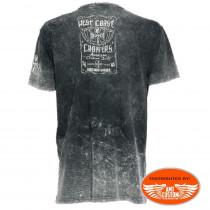 Tee-shirt homme west coast choppers ride hard sucker vintage